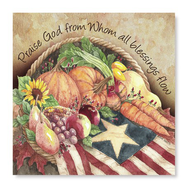 Praise God Basket, Harvest Luncheon Paper Napkins, Pack of 20  -