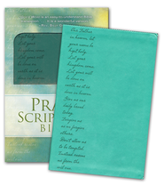 Pray the Scriptures Bible, Duravella, teal   -              By: Kevin Johnson