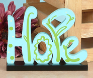 Hope Blue Tabletop Decor   -