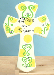 Bless Our Home Tabletop Cross  -