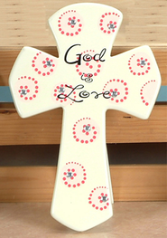 God is Love Tabletop Cross  -