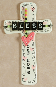 Bless Our Home, Hanging Cross Decor   -