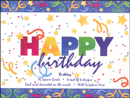 Happy Birthday Cards, Box of 16  -              By: Robin Roderick