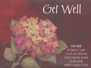 Floral Notes, Get Well Cards, Box of 16  -              By: Annie Lapoint
