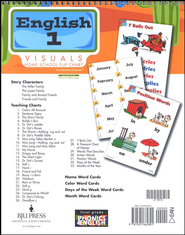 BJU English Grade 1 Homeschool Visual Flipchart   -