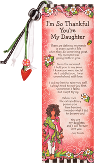 I'm So Thankful You're My Daughter Bookmark  -