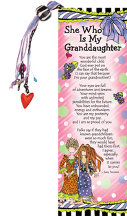 She Who Is My Granddaughter Bookmark  -