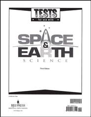 BJU Space & Earth Science Grade 8 Tests (3rd Edition)   -