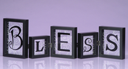Bless Hinged Shadowbox Word Block  -