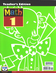BJU Math Grade 1 Teacher's Edition (Third Edition)    -