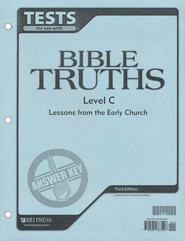 BJU Bible Truths Tests Answer Key Level C (Grade 9), Third Edition    -