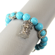 Filigree Prayer Box Bracelet, Turquoise  -