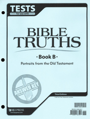 BJU Bible Truths Level B (Grade 8), Tests Answer Key, 3rd Edition    -