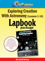 Exploring Creation w/ Astronomy Lapbook Package (Lessons 1-14) - PDF Download  [Download] -              By: Cyndi Kinney
