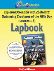 Exploring Creation w/ Zoology 2: Swimming Creatures of the 5th Day Lessons 1-5 Lapbook - PDF Download  [Download] -     By: Cyndi Kinney