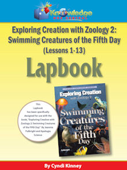 Exploring Creation w/ Zoology 2: Swimming Creatures of the 5th Day Lapbook Package (Lessons 1-13) - PDF Download  [Download] -     By: Cyndi Kinney