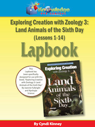 Exploring Creation w/ Zoology 3: Land Animals of the 6th Day Lapbook Package (Lessons 1-14) - PDF Download  [Download] -     By: Cyndi Kinney