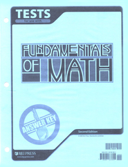 BJU Fundamentals of Math Grade 7 Tests Answer Key,  Second Edition  -