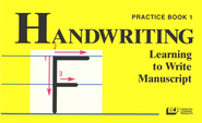 Learning to Write Manuscript Grade 1, Handwriting Practice Book   -