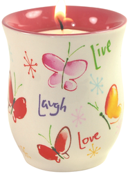 Live, Laugh, Love Tea light  -              By: Kathy Davis