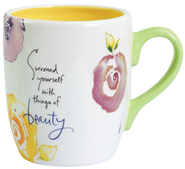 Surround Yourself with Beauty Mug  -              By: Kathy Davis