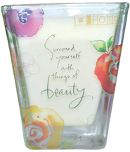 Surround Yourself with Beauty Votive Candle   -              By: Kathy Davis