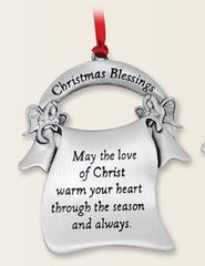 Christmas Blessings Ornament  -