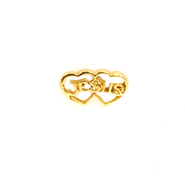 Jesus in Heart Lapel Pin, Gold Plated  -