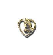 Praying Hands in Heart Lapel Pin, Gold Plated  -
