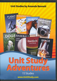 Amanda Bennett's Unit Study Adventures Set (15 4-Week Studies on CD-Rom)  -              By: Amanda Bennett