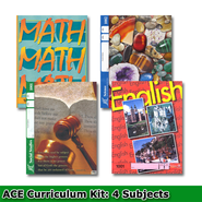 ACE 24-Week (4 Subjects), Single Student Complete PACE Kit, Grade 1, 3rd Edition (with 4th Edition Science & Social Studies)  -