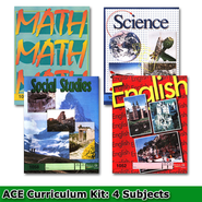 ACE Core Curriculum Kit (4 Subjects), PACEs Only, Grade 5, 3rd Edition (with 4th Edition Social Studies)  -
