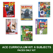 ACE Comprehensive Curriculum (6 Subjects), Single Student PACEs Only Kit, Grade 6, 3rd Edition  -