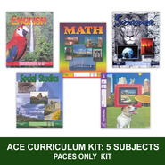 ACE Comprehensive Curriculum (5 Subjects), Single Student PACEs Only Kit, Grade 9, 3rd Edition  -