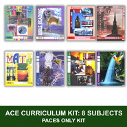 ACE Comprehensive Curriculum (8 Subjects), Single Student PACEs Only Kit, Grade 2, 3rd Edition (with 4th Edition Science & Social Studies)  -