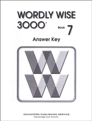 Wordly Wise 3000, Grade 7, Answer Key for Student Text  -