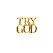 Try God Lapel Pin, Gold Plated  -