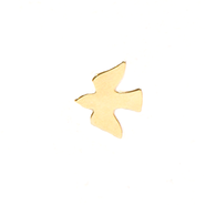 Descending Dove Lapel Pin, Gold Plated  -