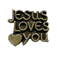Jesus Loves You Lapel Pin  -