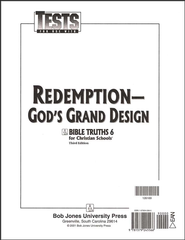 BJU Bible Truths 6: Redemption-God's Grand Design, Tests    -     By: Bob Jones