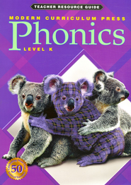 Modern Curriculum Press (MCP) Phonics Level K Teacher Resource Guide (1998/2003 Edition)  -