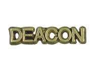 Deacon Lapel Pin, Gold Plated  -