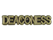 Deaconess Lapel Pin, Gold Plated  -