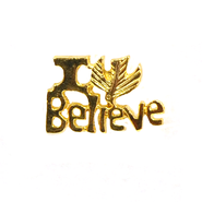 I Believe Lapel Pin, Gold Plated  -