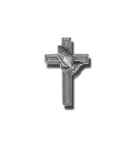 Praying Hand on Cross Lapel Pin  -