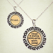 Reversible Definition Necklace, Friend   -