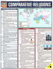 Comparative Religions, QuickStudy &#174 Chart   -