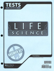 BJU Life Science Tests Answer Key, Third Edition (Grade 7)    -