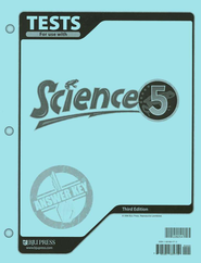 BJU Science Grade 5 Tests Answer Key, Third Edition    -