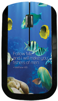 Follow Me and I Will make You Fishers of Men USB Wireless Mouse  -